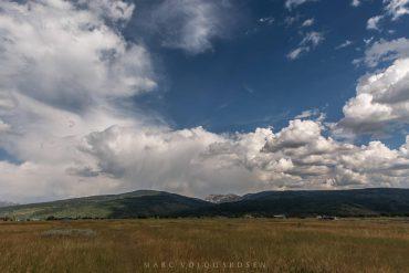 Wolken über dem Teton Valley