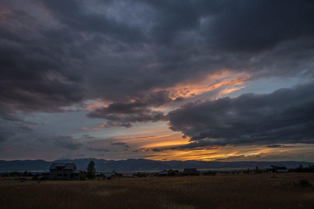 Sonnenuntergang im Teton Valley (0807)