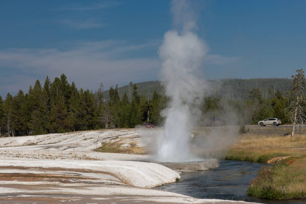Yellowstone - Black Sand Basin Cliff Geyser (1962)