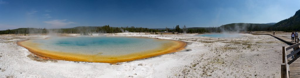 Yellowstone - Black Sand Basin Sunset Lake (1931)