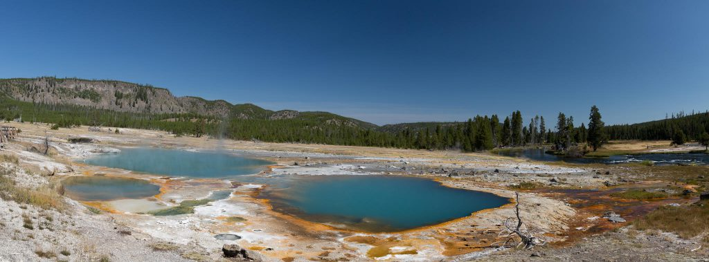 Yellowstone - Biscuit Basin: Black Opal Pool und Black Diamond Pool (2663)