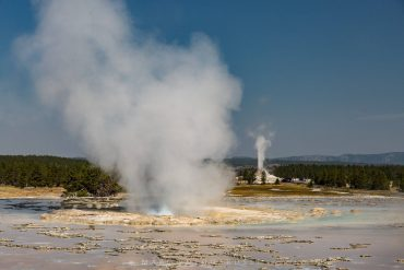 Great Fountain Geyser & White Dome Geyser