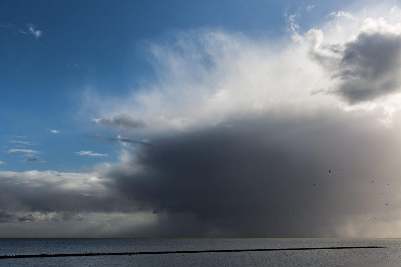 Abziehender Sturm am nächsten Morgen