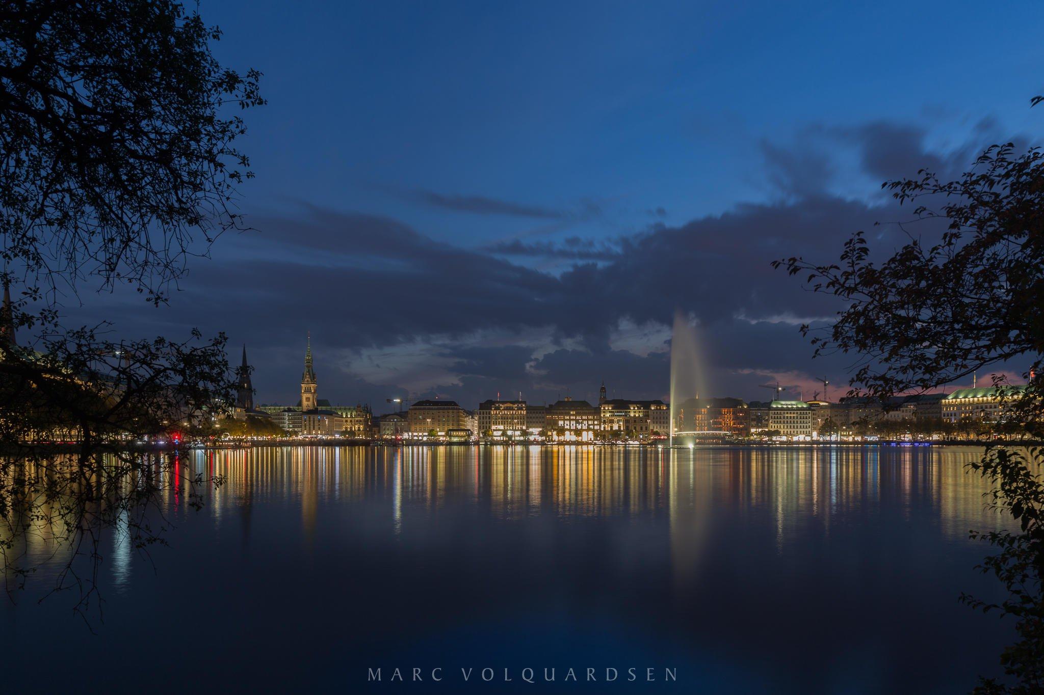 Hamburg - Blick auf den Jungfernstieg