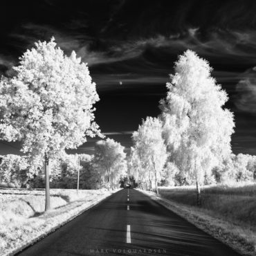 Grasengrund and half moon in Infrared