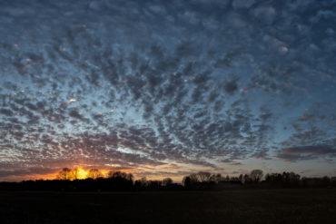 Sonnenuntergang über Meilsener Feldern