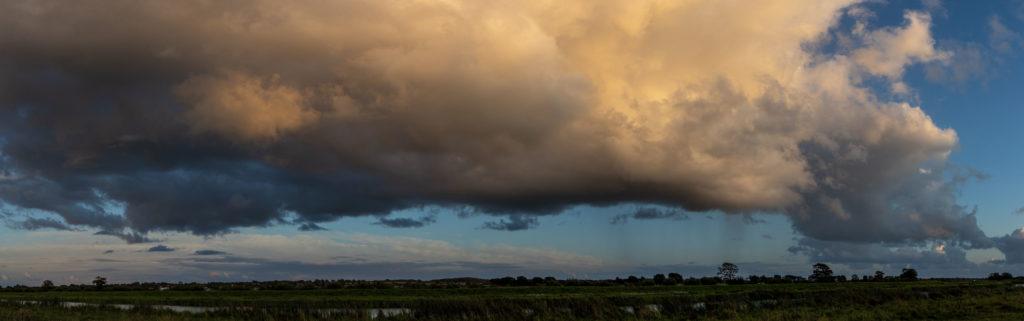 Rain cloud over the Treene (Pano)