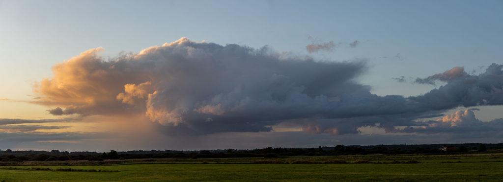 Rain cloud over the moor (Pano)