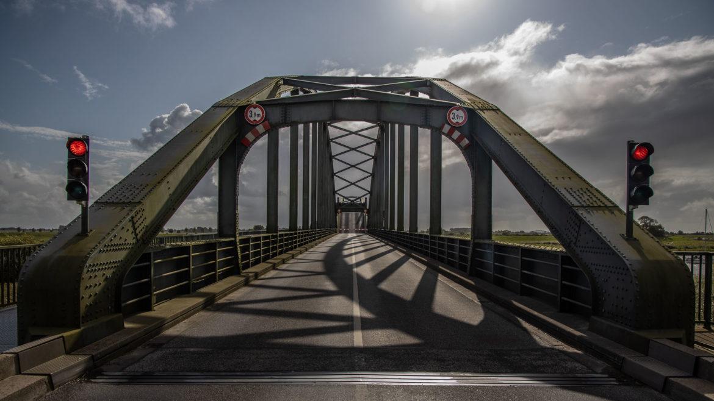 Eider bridge near Friedrichstadt