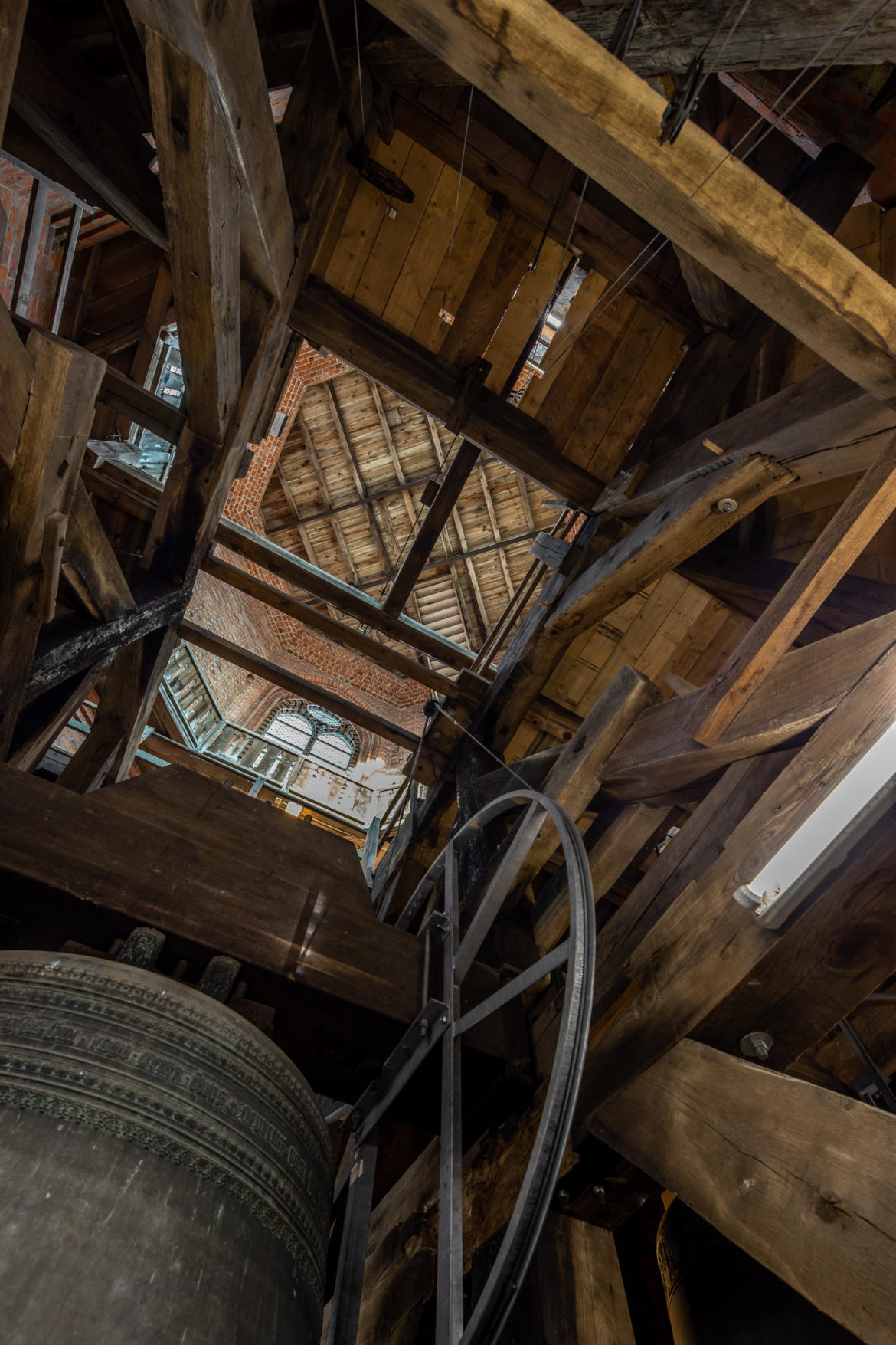 In the bell tower of St. Nicolai