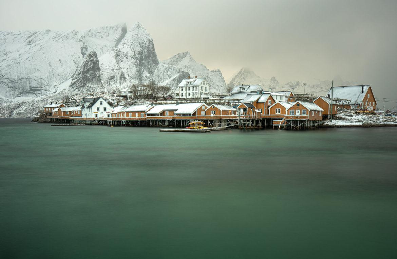 Sakrisøya in a snowstorm