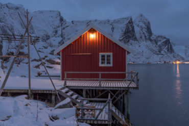 Reine Rorbuer at Blue Hour