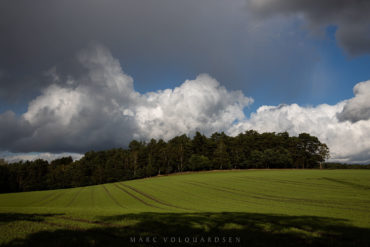 Rain clouds above the fields
