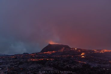 Fagradalsfjall volcano — two colorsky